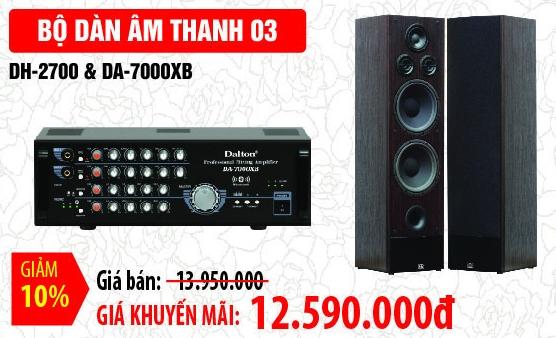 BỘ DÀN ÂM THANH DALTON 03: DH2700 & DA 7000XB