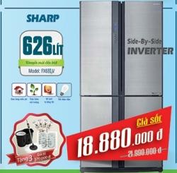 Tủ lạnh Sharp 626 lít SJ-FX630V-ST