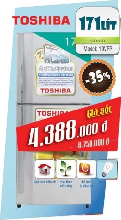 Tủ Lạnh TOSHIBA 171 Lít GR-S19VPP(S)